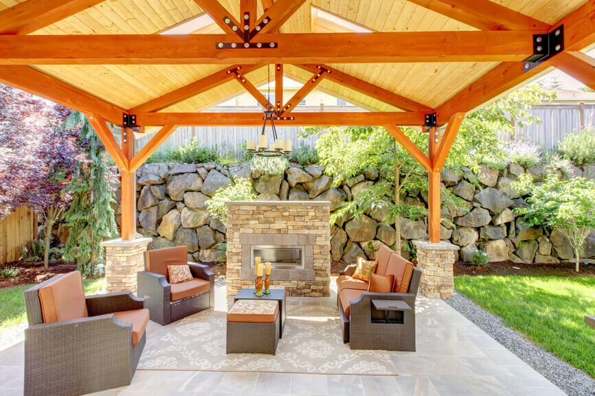 31 Patio Fireplaces Creating Outdoor, Outdoor Covered Patio