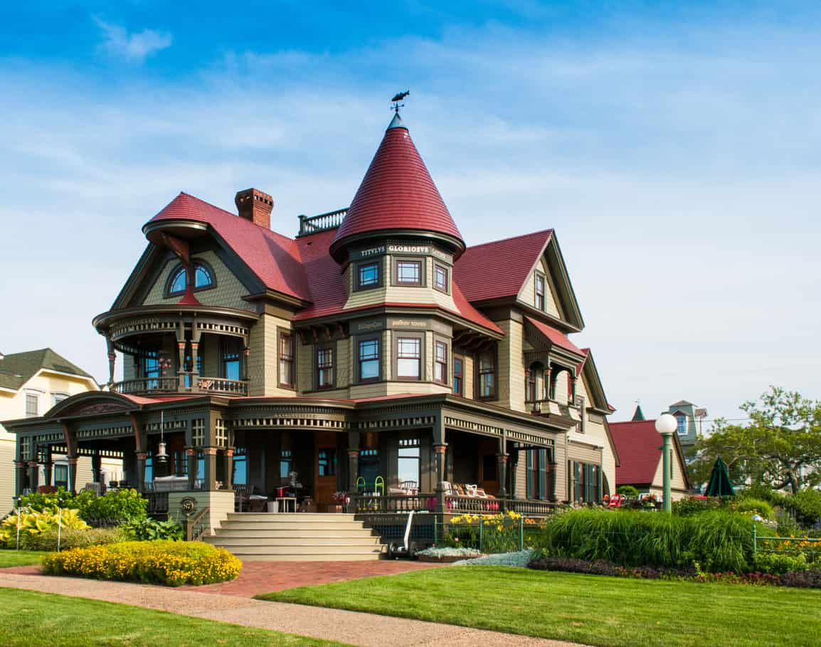 Oak Bluffs, Martha's Vineyard, Massachusetts: The Corbin Norton House (Peter Norton, Norton Utilities/Symantec), totally destroyed by fire in 2001, is pictured here fully restored to its original Queen Anne style residence which was completed in 2004.