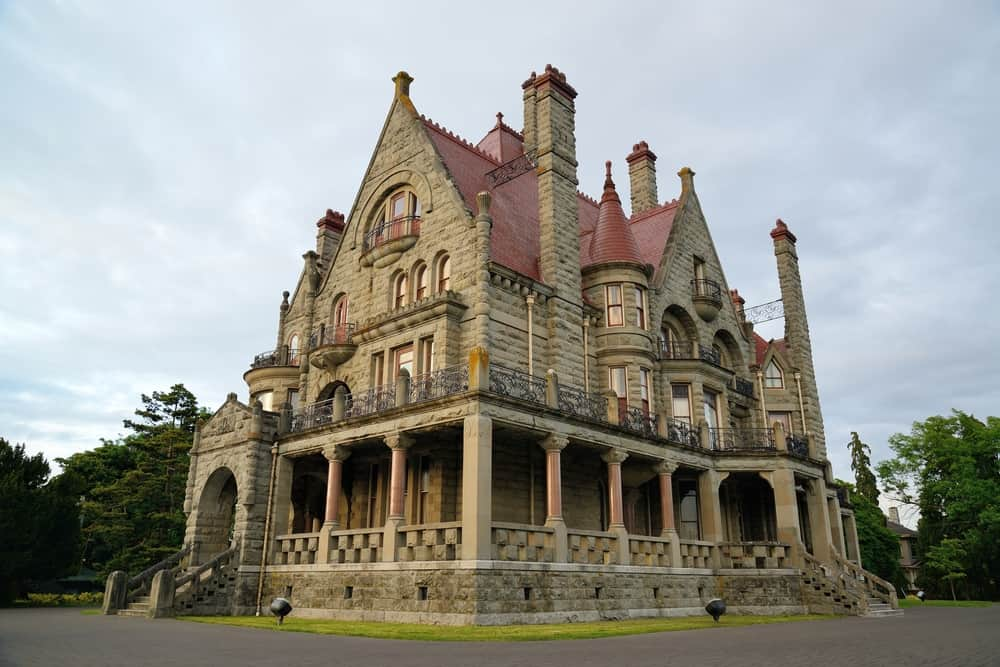 The historic Craigdarroch castle (built in 1890) in downtown Victoria, British Columbia, Canada.