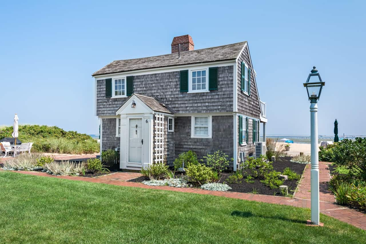 Tiny Beach House Cottage with wood shingle expterior on Cape Cod