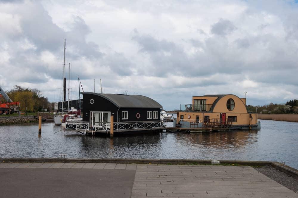 Houseboats in Sakskoebing Denmark
