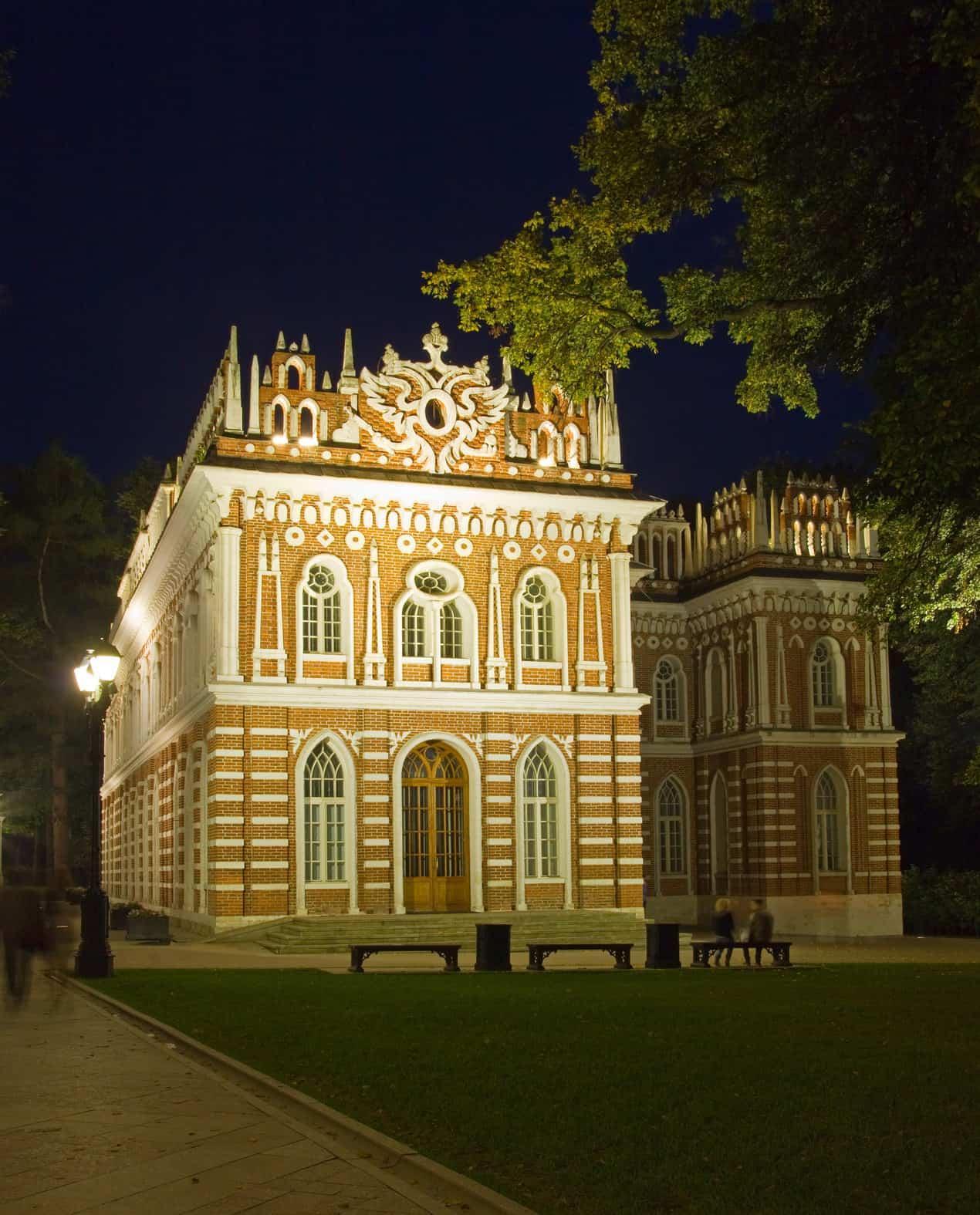 The Medium Palace (The Opera House) in Tsaritsyno Park, Moscow. Russia (1776-1778)