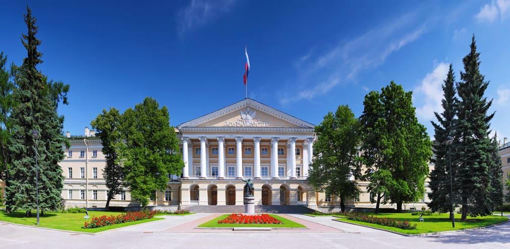 Smolny Palace in St. Petersburg. Russia.