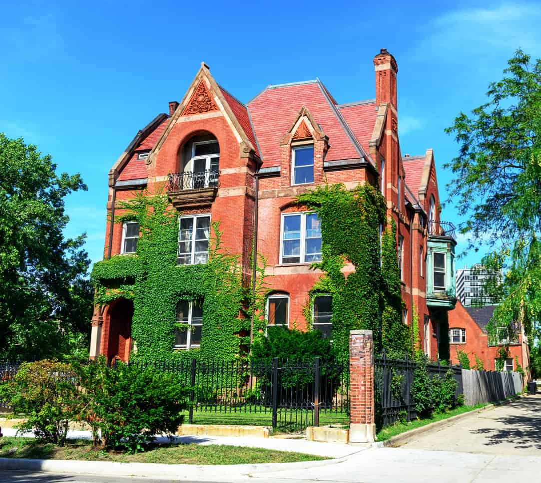 Mansion on Prairie Avenue in Douglas, a Chicago community on the South Side. Landmark house built in 1885.