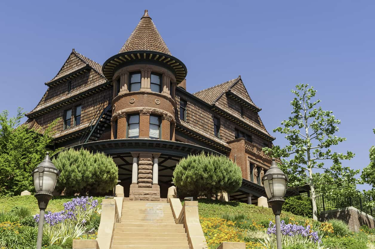 The historic Alfred McCune mansion building on Capitol Hill in dowtown Salt Lake City, Utah. P