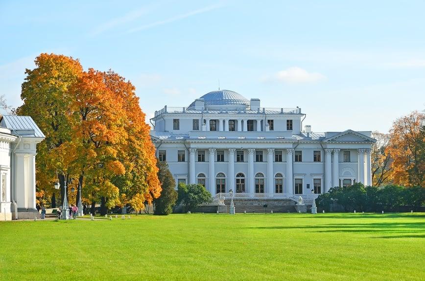 Yelagin Palace in Saint-Petersburg, Russia