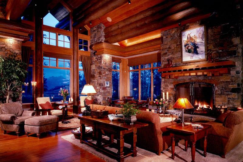 Great room of the Barnard Residence