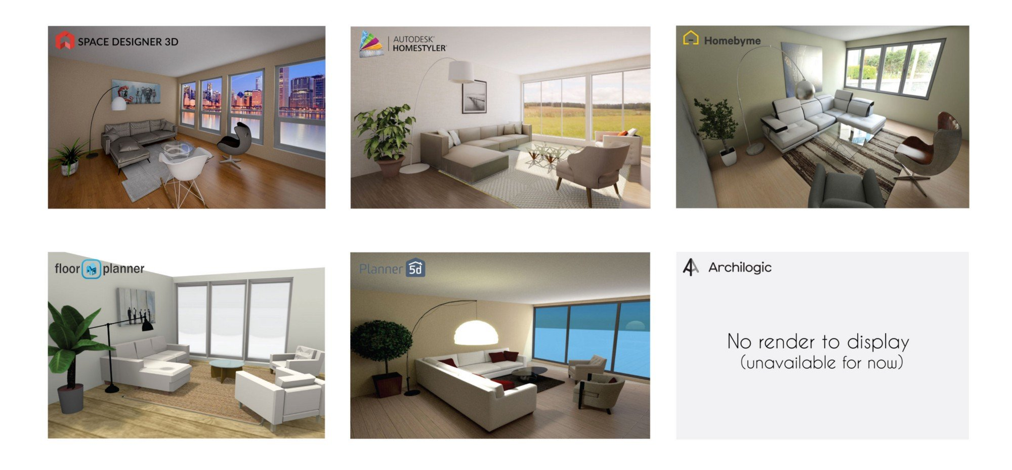 interior design software rendering comparison