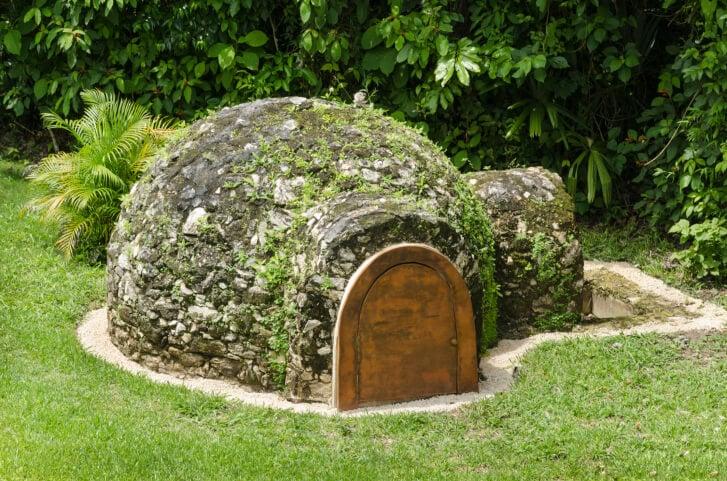 Mexican sauna hut