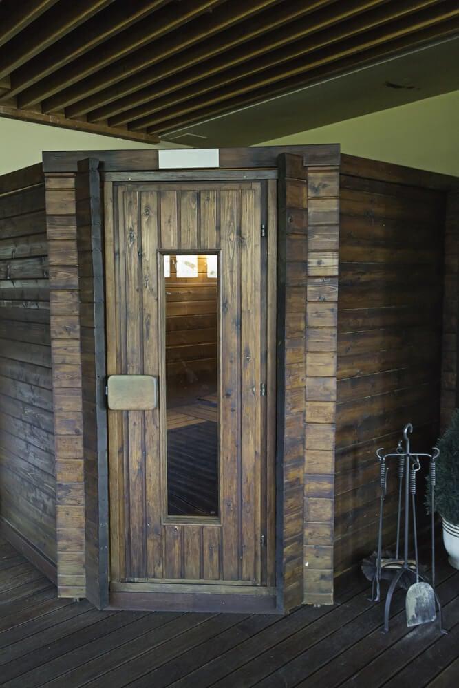 Custom sauna exterior in private home