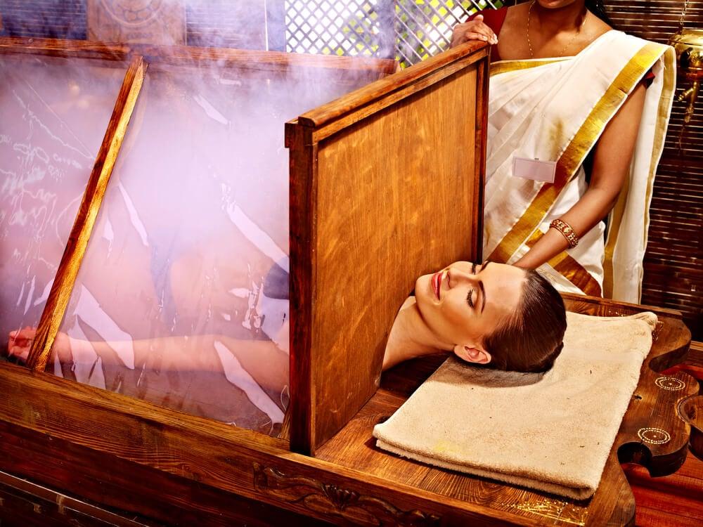 Ayurvedic sauna treatment