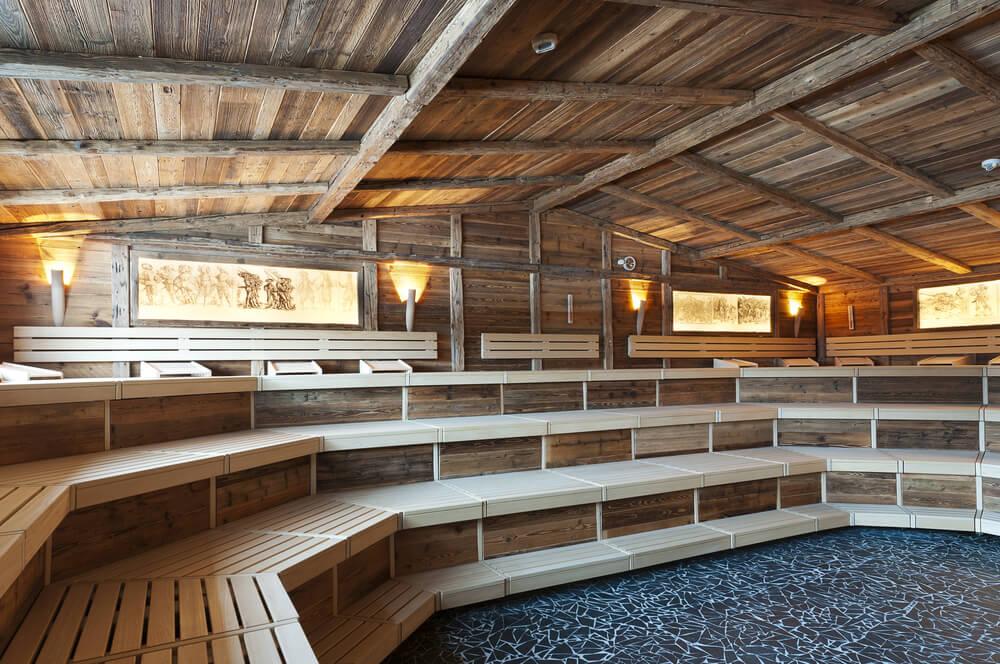 Large triple-level sauna house