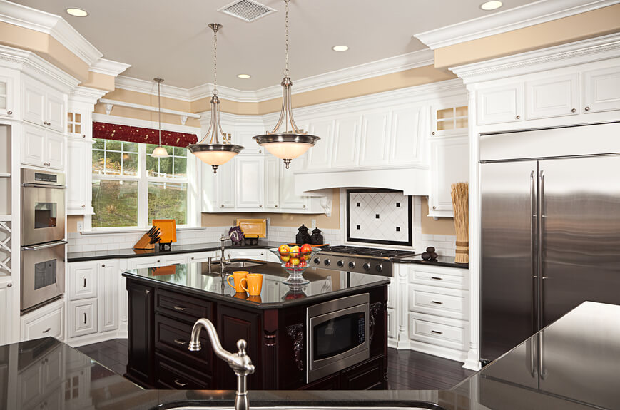 Kitchen with colorful decorations