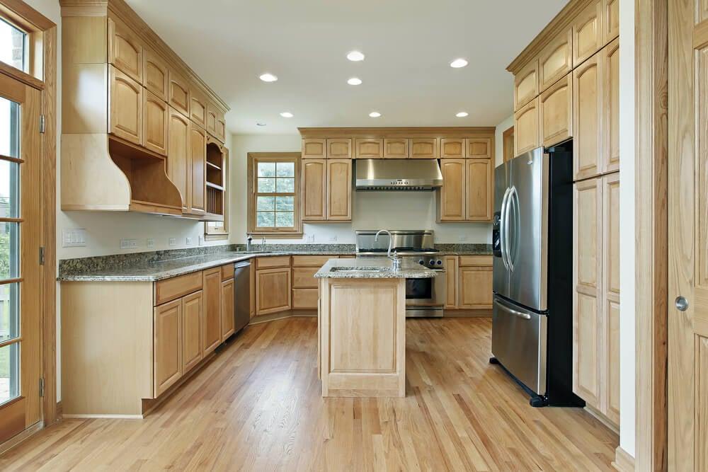 Light Wood Custom Kitchen Designs, Kitchen Cabinets Light Wood