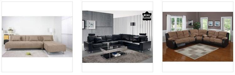 L-shape sectional sofas