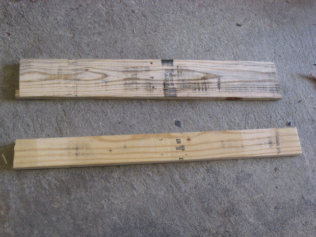 Pallet boards removed from wooden pallet