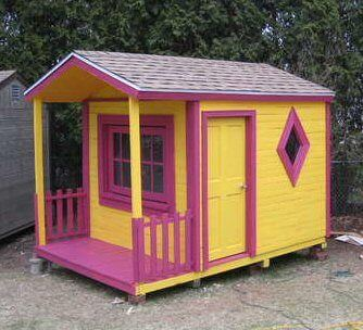 Finished Pallet Playhouse