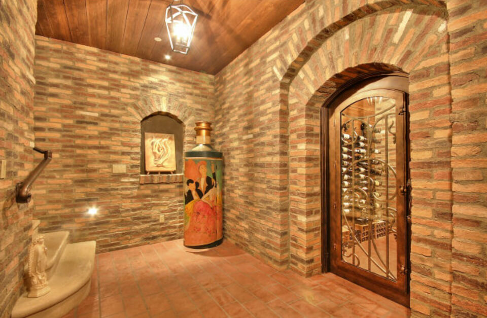 Entrance to the wine cellar. Great brickwork throughout.