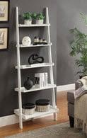 White Leaning Ladder Shelf
