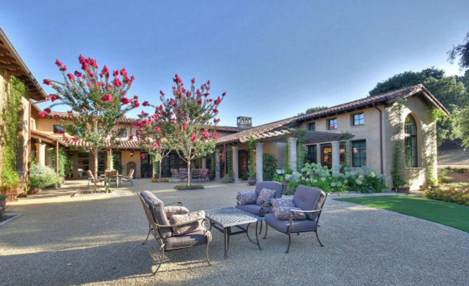 Large patio and courtyard area which is viewed from many rooms of the house. It's open, yet private.