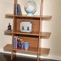 Short Tic-Tac-Toe Leaning Shelf