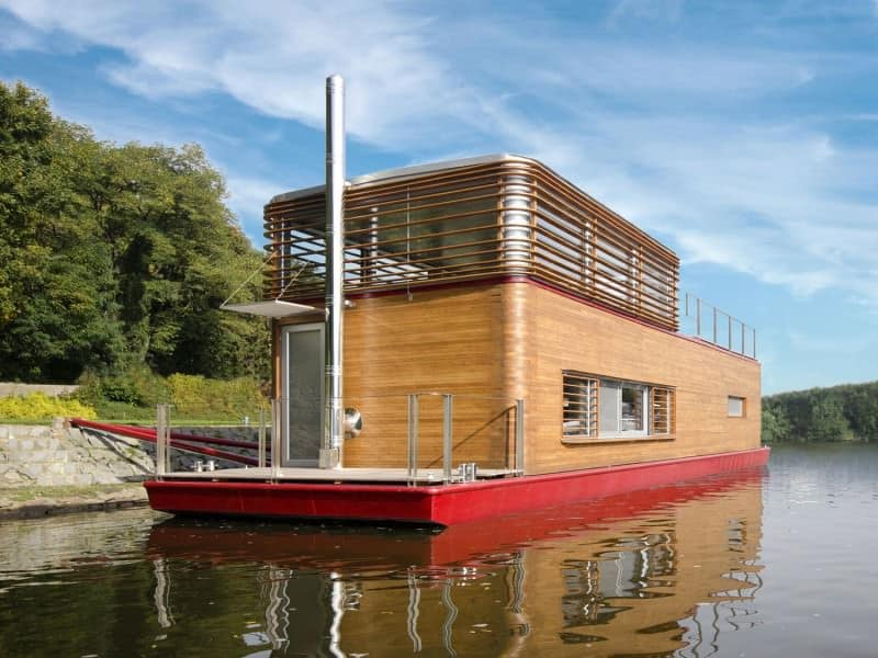 Floating boat tiny home