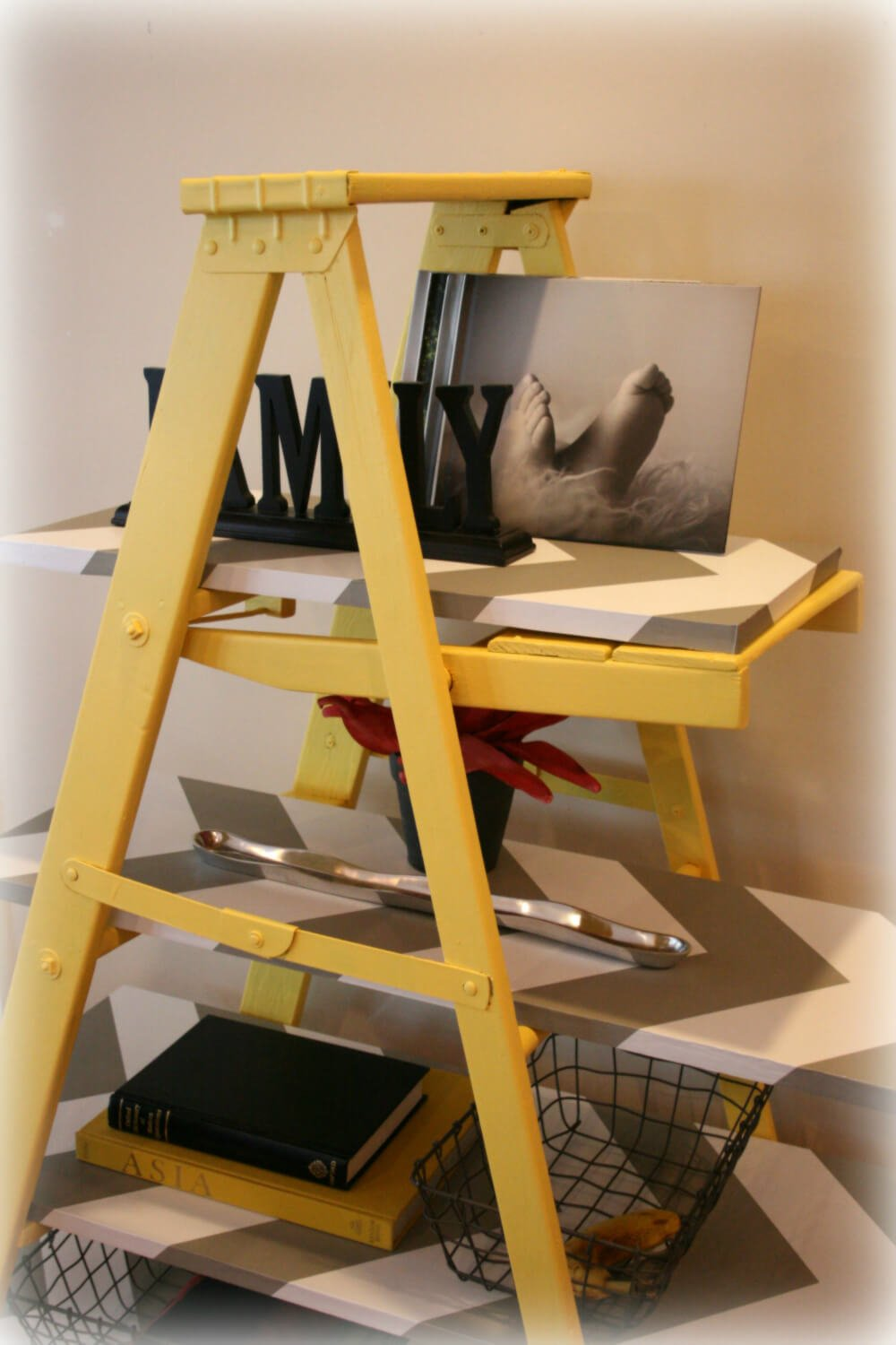 Leaning Ladder Shelf by ReviveDesign