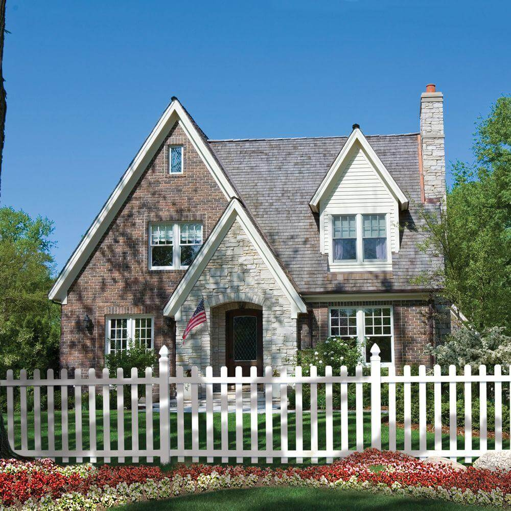 White Spaced Picket Fence