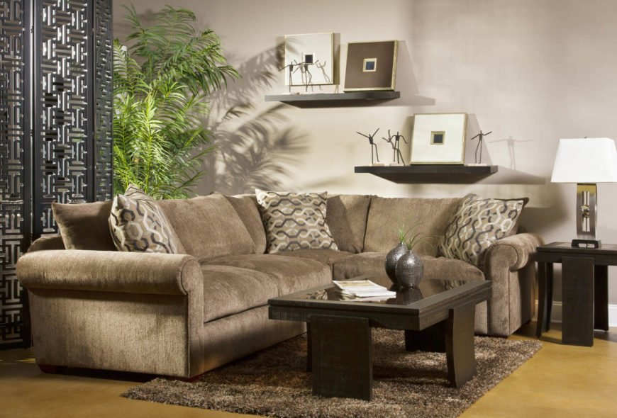 Transitional Brown Sectional