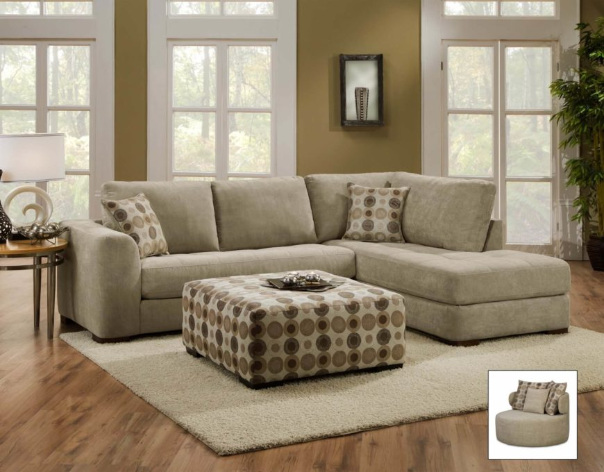 Lush Two Piece Sectional with Chaise