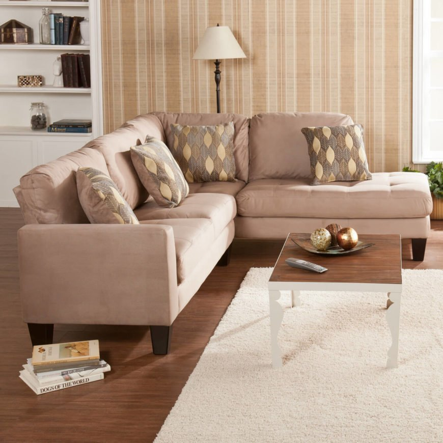 Earthy Grey Sectional with Chaise Lounge