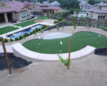 Luxury backyard putting green
