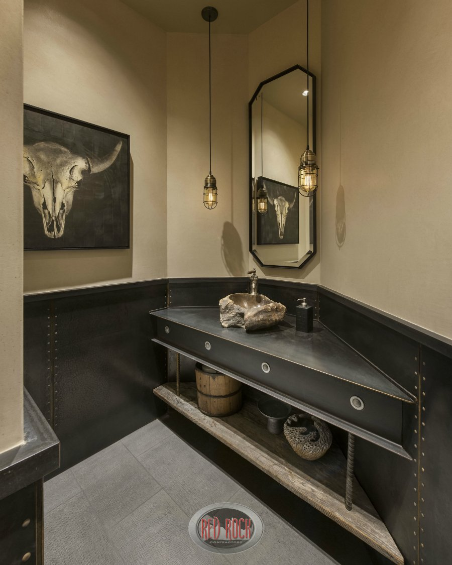 Powder room number 2 with a large shell serving as a basin.
