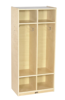 2-column mudroom locker system for kids