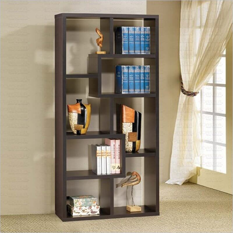 This is a substantial backless 8-cube bookshelf designed to hold books and other items.