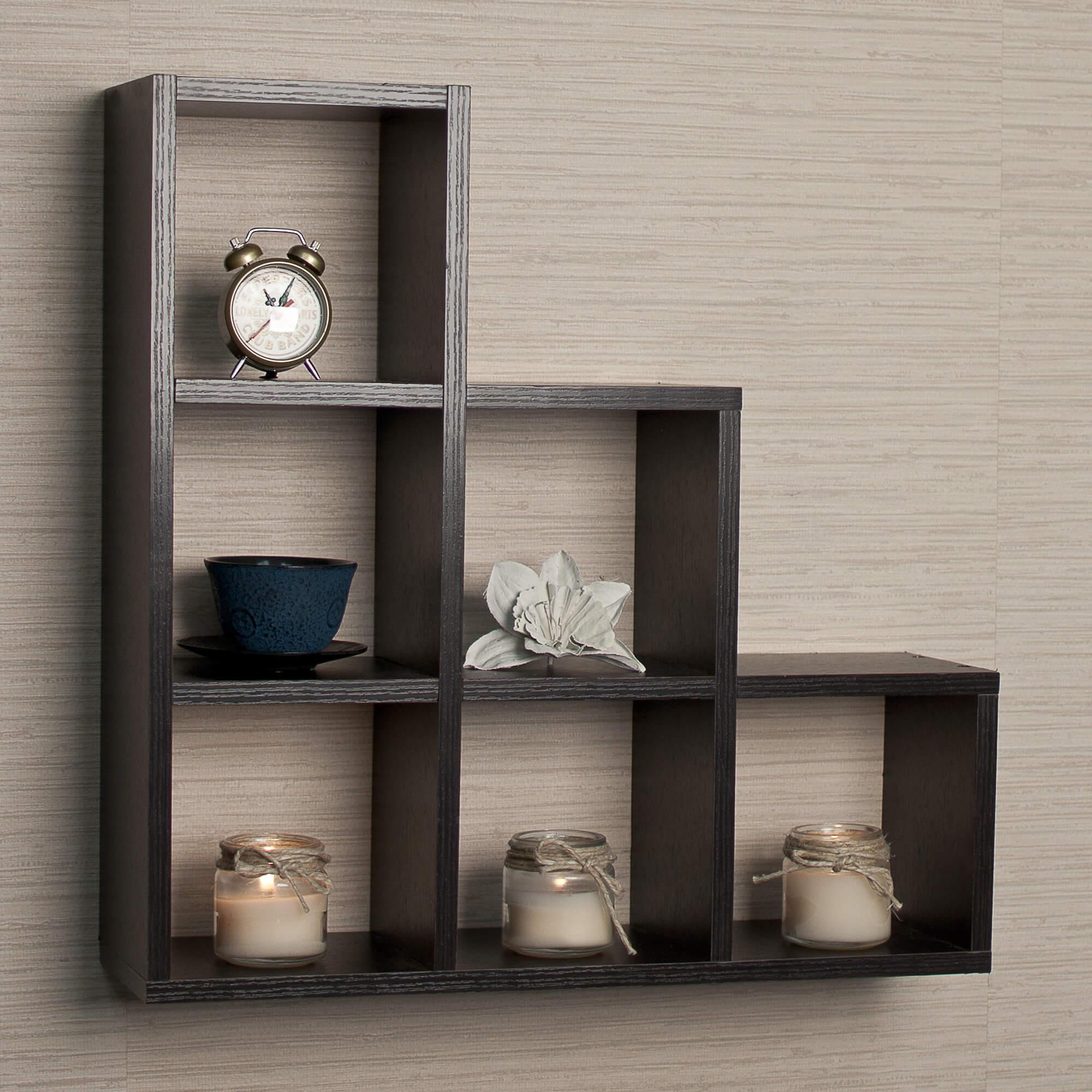 3way wall mounted cube shelf