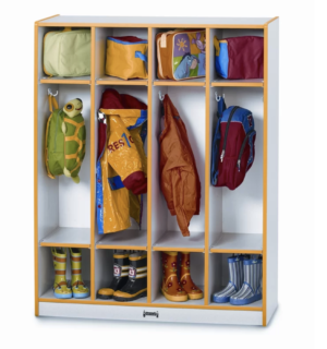 4-column mudroom locker system for kids