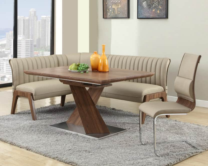 Beau 5hay Contemporary Large Corner Dining Nook