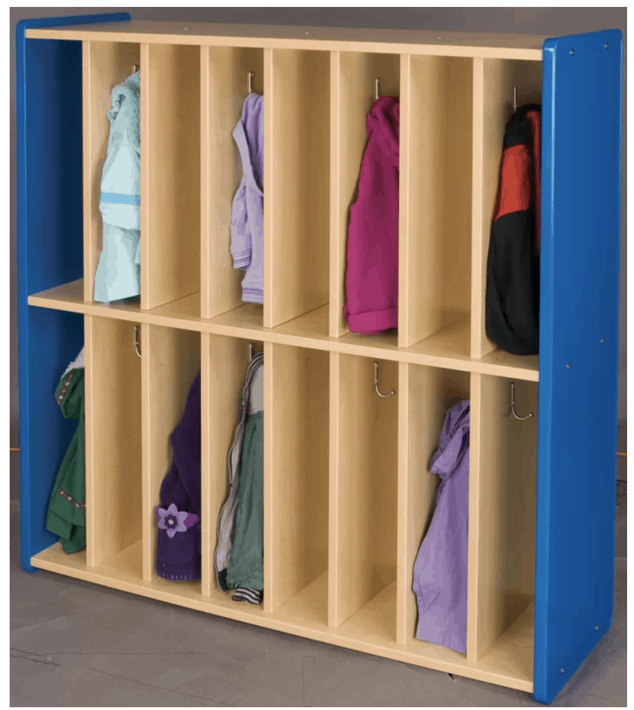 8 Column Mudroom Locker System For Kids.