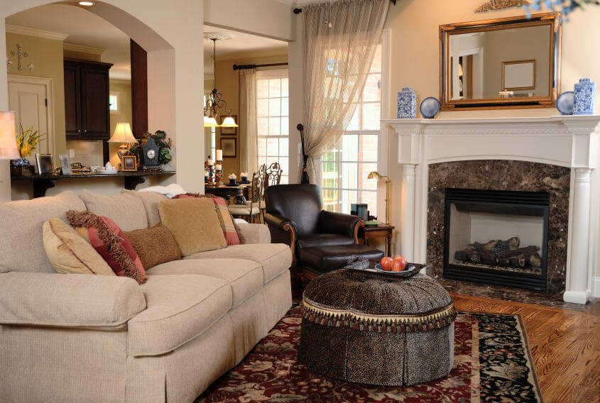 This is beautiful and shows you what you can do with a small living room space. I think the furniture selection really makes this living room pop.