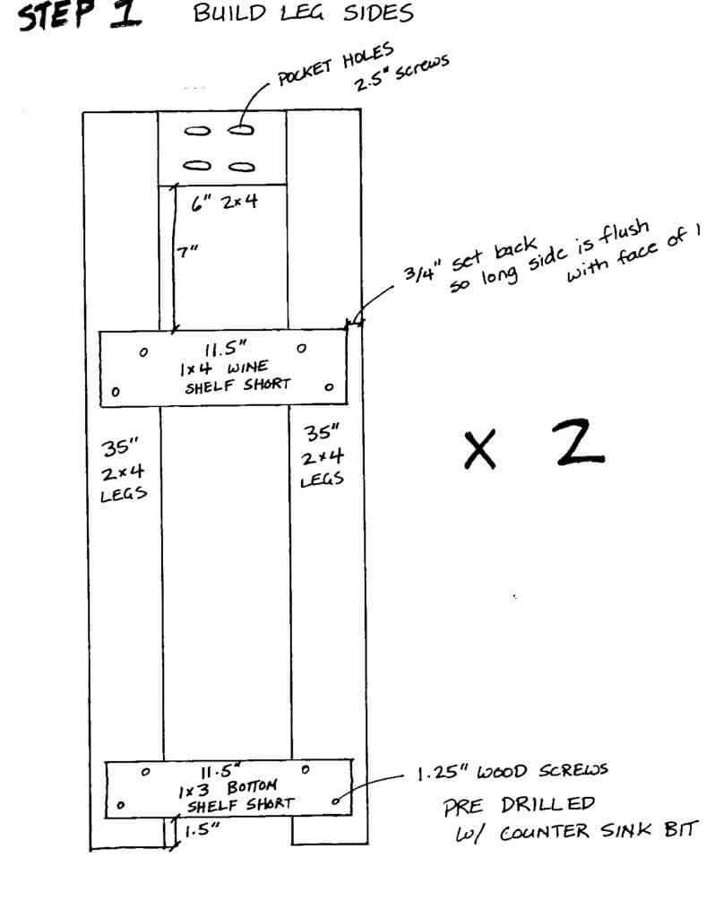 Assemble the Legs / Short Sides