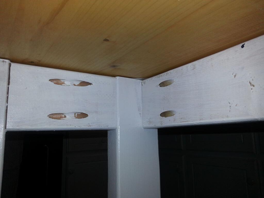 Underside of the DIY kitchen island