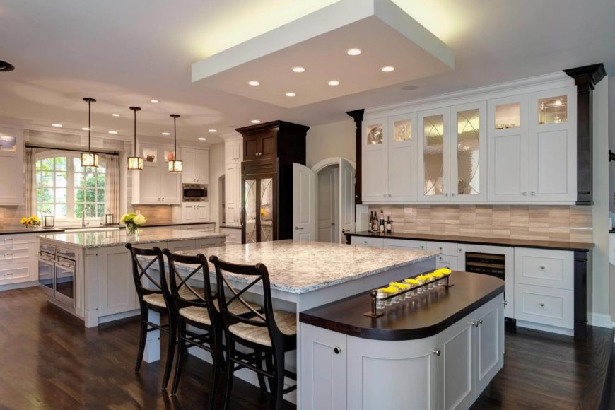 Beautiful Multi-Functional Transitional Hisdale Kitchen by Drury Design