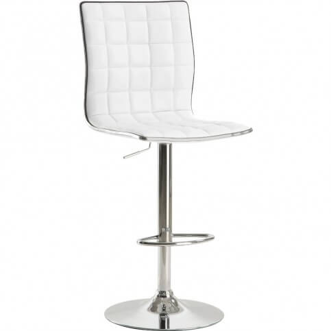 The over-sized seat and back on this stool offers ample seating space and back support for a modern design.