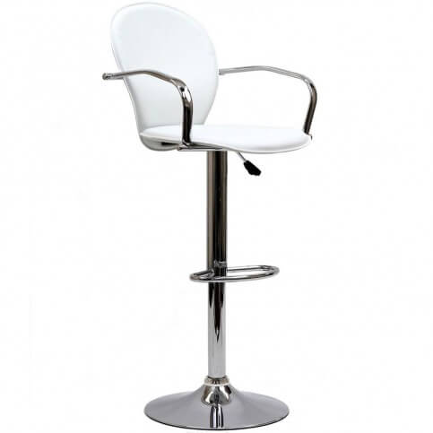 This is a rare modern stool design with full arms (captain style). It also offers an above-average back height (compared to other modern styles).