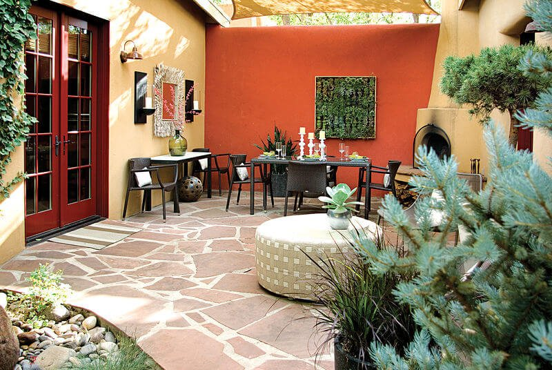 Southwest style courtyard for private home by Mark Design