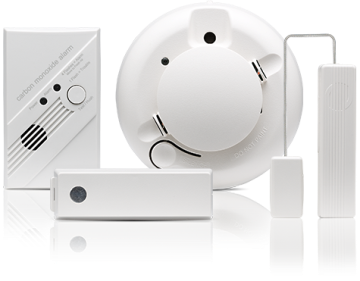 Environtmental security sensors - fire, carbon monizide and other sensors by Frontpoint security