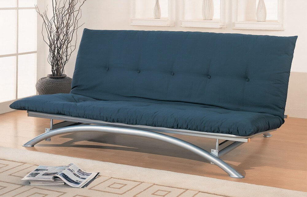 The number one advantage to an armless futon is, when in sleeping mode, the bed can be far more comfortable for tall folks, or anyone who moves around during sleep. In its bed configuration, the armless futon appears more naturally like a traditional bed. It can also make for a more sleek sofa configuration, and fit multiple sitters with a little more room.