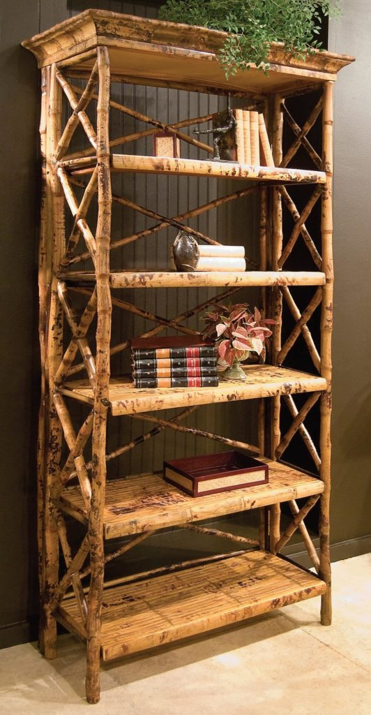 Bookcases in the coastal design paradigm feature a natural look that differs from rustic style in that it's aimed for an oceanic, beachside style. The materials feature a weatherworn or sun-bleached tone, while a simplicity of construction conveys an easygoing nature.