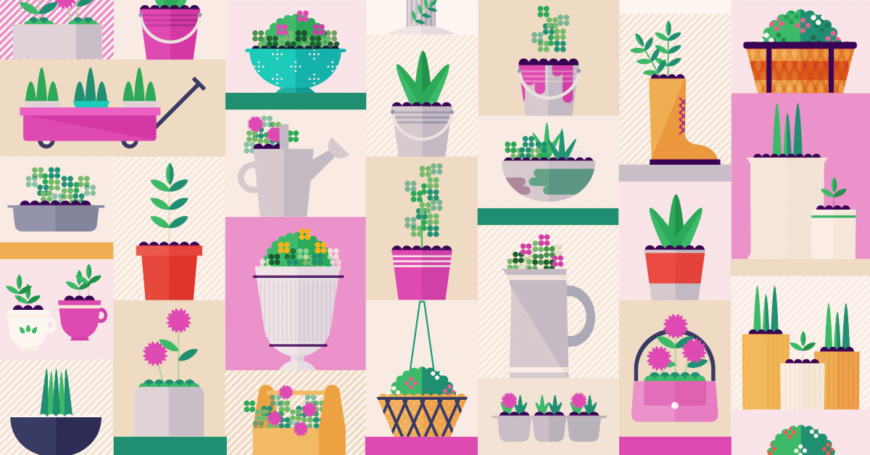 50 types of flower container gardens
